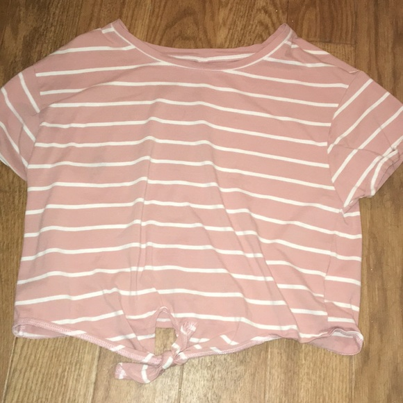 3f147f900a1 Tops | Pink And White Striped Crop Top | Poshmark